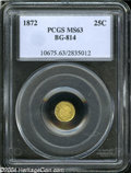 California Fractional Gold: , 1872 25C Liberty Round 25 Cents, BG-814, High R.5, MS63 PCGS....