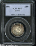 Coins of Hawaii: , 1883 25C Hawaii Quarter MS66 PCGS....