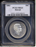 Coins of Hawaii: , 1883 50C Hawaii Half Dollar MS63 PCGS....
