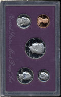 Proof Sets: , 1990 1C No S PR69 Red Uncertified.... (5 Coins)