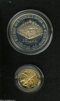 Proof Sets: , 1987 Two Piece Constitution Proof Set Including the Silver Dollar and Five Dollar Gold, PR69 Deep Cameo Uncertified.... (2 Coins)