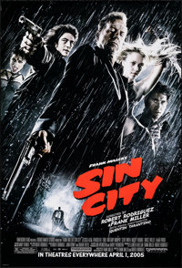 """Sin City (Dimension, 2005). Rolled, Very Fine+. One Sheet (27"""" X 40"""") SS, Advance. Crime"""