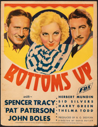 "Bottoms Up & Other Lot (Fox, 1934). Fine. Trimmed Window Card (14"" X 18"") & Window Card (14&qu..."