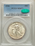 1936 50C MS67+ PCGS. CAC. PCGS Population: (185/3 and 29/0+). NGC Census: (108/13 and 9/0+). CDN: $625 Whsle. Bid for NG...
