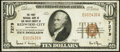 Redwood City, CA - $10 1929 Ty. 1 The First National Bank of San Mateo County Ch. # 7279 Very Fine-Extremely Fine
