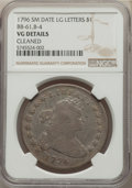 1796 $1 Small Date, Large Letters, B-4, BB-61, R.3, -- Cleaned -- NGC Details. VG....(PCGS# 40000)