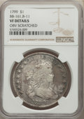 Early Dollars, 1799 $1 7x6 Stars, B-11, BB-161, R.3, -- Obverse Scratched -- NGC Details. VF....