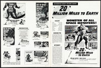 20 Million Miles to Earth & Other Lot (Columbia, 1957). Very Fine-. Uncut Pressbooks (2) (Multiple Pages, 12&quo...