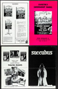Movie Posters:Horror, Children Shouldn't Play with Dead Things & Other Lot (Geneni, 1972). Folded, Very Fine-. Uncut Pressbooks (5) (Multip...