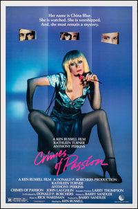 """Crimes of Passion & Other Lot (New World, 1984). Rolled, Very Fine+. One Sheets (2) (27"""" X 41""""). Thril..."""