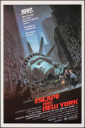 "Movie Posters:Science Fiction, Escape from New York (Avco Embassy, 1981). Rolled, Fine/Very Fine. One Sheet (27"" X 41""). Barry Jackson Artwork. Science Fic..."