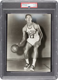 Basketball Collectibles:Photos, 1960's John Havlicek Original Photograph Used For 1968 Topps Test Issue, PSA/DNA Type 1....