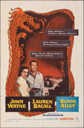 """Movie Posters:Action, Blood Alley (Warner Bros., 1955). Folded, Fine/Very Fine. One Sheet (27"""" X 41""""). Action.. ..."""