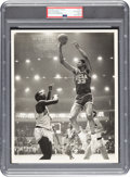 Basketball Collectibles:Photos, 1960's Lew Alcindor Original Photograph by Malcolm Emmons, PSA/DNA Type 1....