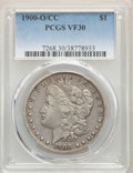 1900-O/CC $1 VF30 PCGS. PCGS Population: (63/6580). NGC Census: (17/2775). CDN: $95 Whsle. Bid for NGC/PCGS VF30. ...(PC...