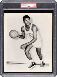 Circa 1960's K.C. Jones Original Photograph Used for 1961 Fleer Rookie Card, PSA/DNA Type 1