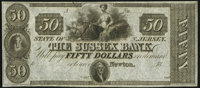 Newton, NJ- Sussex Bank $50 18__ Remainder Crisp Uncirculated