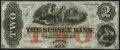Obsoletes By State:New Jersey, Newton, NJ- Sussex Bank $2 18__ Remainder Choice About Uncirculated.. ...