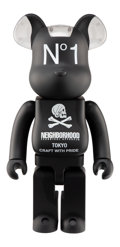 Collectible, BE@RBRICK X Neighborhood. Black 1000%, 2016. Painted cast vinyl. 28 x 14 x 9 inches (71.1 x 35.6 x 22.9 cm). No. 97. Sta...