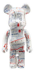 Collectible, BE@RBRICK X The Estate of Jean-Michel Basquiat. Jean-Michel Basquiat #2 1000%, 2018. Painted cast resin. 28 x 14 x 9 inc...