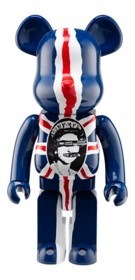 BE@RBRICK X Sex Pistols Sex Pistols 1000% (Version 2), 2007 Painted cast resin 28 x 13-1/2 x 9-1/2 inches (71.1 x 34