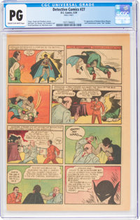 Detective Comics #27 Page 3 Only (DC, 1939) CGC