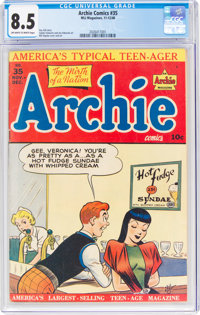 Archie Comics #35 (Archie, 1948) CGC VF+ 8.5 Off-white to white pages