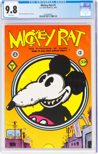 Mickey Rat #1 (Los Angeles Comic Book Co., 1972) CGC NM/MT 9.8 White pages
