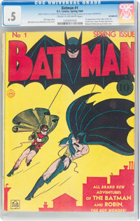 Batman #1 Incomplete (DC, 1940) CGC PR 0.5 Cream to off-white pages