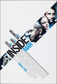 """Inside Man & Other Lot (Universal, 2006). Rolled, Overall: Very Fine-. One Sheets (2) (27"""" X 40"""") DS Advan..."""