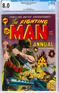 Fighting Man Annual #1 (Farrell, 1952) CGC VF 8.0 Off-white to white pages