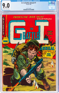G-I in Battle Annual #1 (Farrell, 1952) CGC VF/NM 9.0 Off-white to white pages