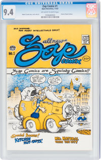 Zap Comix #1 First Printing Plymell Edition (Apex Novelties, 1967) CGC NM 9.4 Off-white to white pages