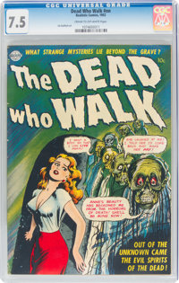 The Dead Who Walk #nn (Realistic Comics, 1952) CGC VF- 7.5 Cream to off-white pages