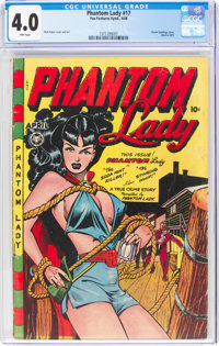 Phantom Lady #17 (Fox Features Syndicate, 1948) CGC VG 4.0 Pink pages