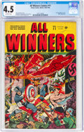 Golden Age (1938-1955):Superhero, All Winners Comics #11 (Timely, 1943) CGC VG+ 4.5 Off-white pages....