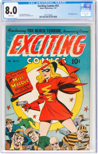 Exciting Comics #53 (Nedor/Better/Standard, 1947) CGC VF 8.0 White pages