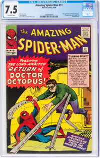 The Amazing Spider-Man #11 (Marvel, 1964) CGC VF- 7.5 Off-white pages