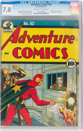 Golden Age (1938-1955):Superhero, Adventure Comics #62 (DC, 1941) CGC FN/VF 7.0 Off-white to white pages....