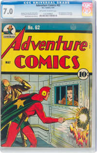 Adventure Comics #62 (DC, 1941) CGC FN/VF 7.0 Off-white to white pages
