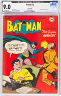 Golden Age (1938-1955):Superhero, Batman #35 Cookeville Pedigree (DC, 1946) CGC VF/NM 9.0 Off-white pages....