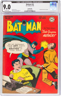 Batman #35 Cookeville Pedigree (DC, 1946) CGC VF/NM 9.0 Off-white pages