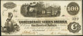 Confederate Notes:1862 Issues, T40 $100 1862 PF-1 Cr. 298 About Uncirculated.. ...