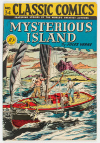 Classic Comics #34 Mysterious Island - First Edition (Gilberton, 1947) Condition: VF-