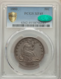 1880 50C XF45 PCGS. CAC. PCGS Population: (10/138 and 0/8+). NGC Census: (2/79 and 0/0+). CDN: $700 Whsle. Bid for NGC/P...