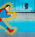 Animation Art:Production Cel, Super Friends Superman Production Cel (Hanna-Barbera, c. 1970s-1980s...