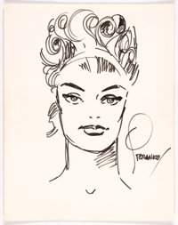 Jim Steranko, Gene Colan, and Wally Wood - Character Head Sketches Original Art Group of 3 (undated).... (Total: 3 Origi...