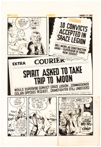 Will Eisner Studio The Spirit Section Story Page Original Art dated 8-17-52 (Register and Tribune Syndicate, 1940)