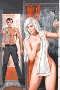 Original Comic Art:Paintings, Samson Pollen - Men's Adventure Magazine Painting Original Art (c. 1970s)....