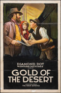 "Movie Posters:Western, Gold of the Desert (Diamond Dot, 1923). Folded on Linen, Very Good-. One Sheet (27"" X 41""). Western.. ..."